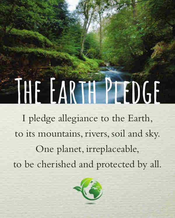 EarthPledge Photo Poster - English