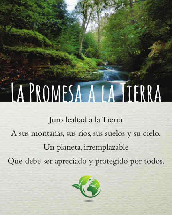 EarthPledge Photo Poster - Spanish