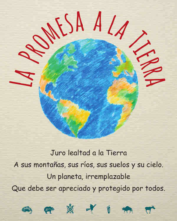 EarthPledge Kids Poster - Spanish